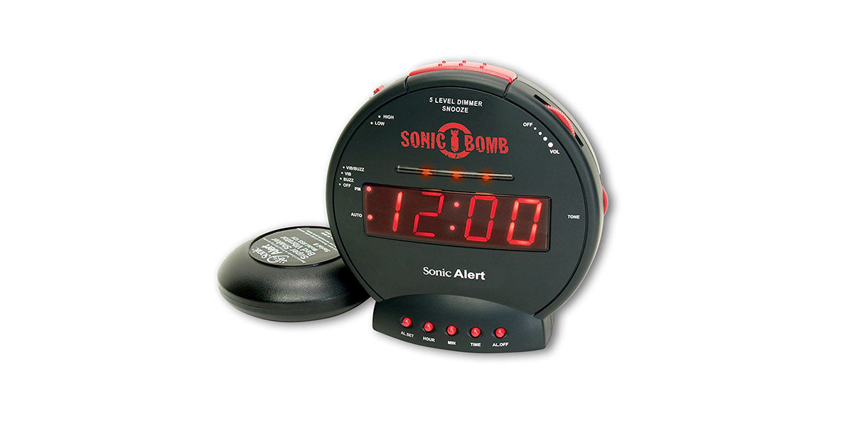 Sonic Bomb Loud Dual Alarm Clock with Bed Shaker by Sonic Alert