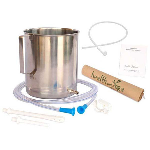 Stainless Steel Enema Kit by Health and Yoga
