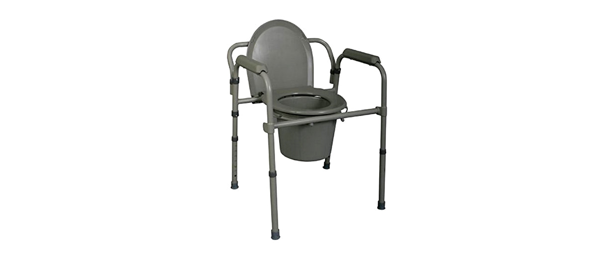 Steel Bedside Commode by Medline
