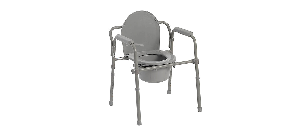 Steel Folding Bedside Commode by Drive Medical