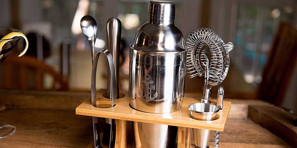 Stock Harbor 9 Piece Stainless Steel Bartender Set