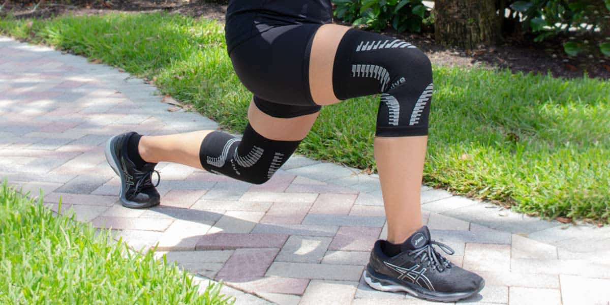 Stretching with compression sleeves