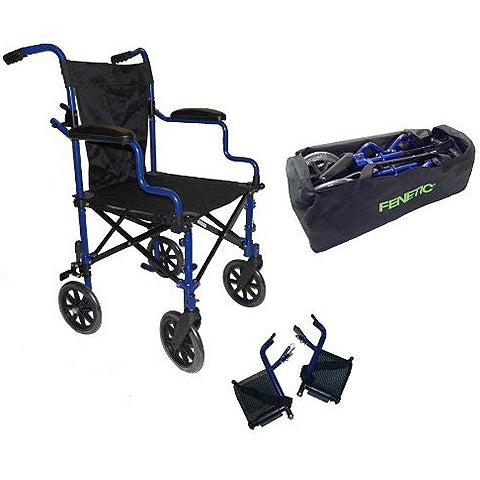 Super Lightweight Folding Transport Travel Wheelchair in a Bag ECTR05  by Elite Care