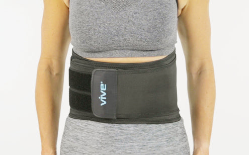 Using back brace to support injuries
