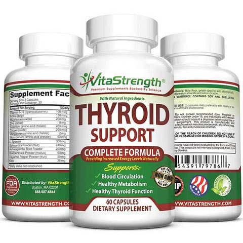 Thyroid Support Complete Formula Supplement by VitaStrength