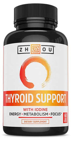 Thyroid Support Complex With Iodine by Zhou Nutrition