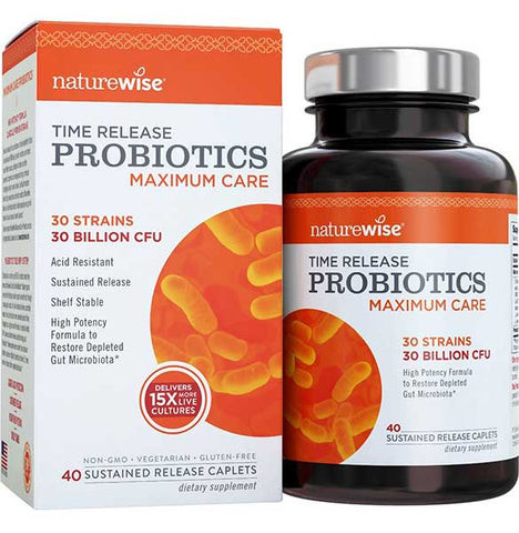 Time-Release Probiotics for Men by Naturewise