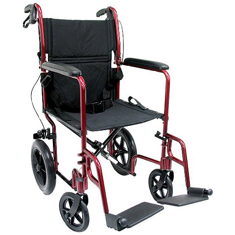Transport Wheelchair with Companion Brakes by Karman Healthcare
