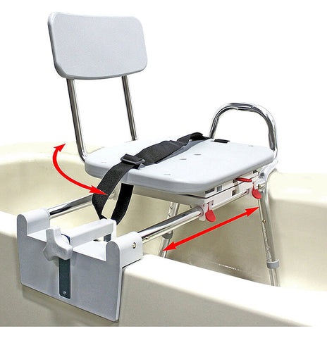 Tub-Mount Bath Transfer Bench by Eagle Health Supplies ...  sc 1 st  Vive Health & 11 Best Transfer Benches for Shower Safety - 2018 Review - Vive Health