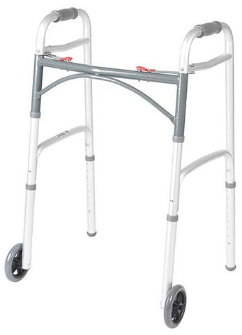 Two Button Front Wheel Walker by Drive Medical