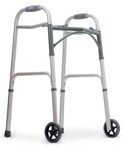 Two Button Release Folding Walker by Top Glides