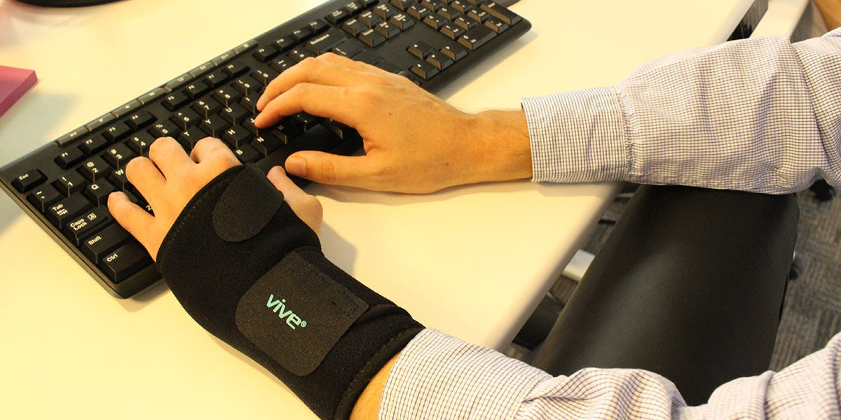 Typing using Wrist Brace by Vive