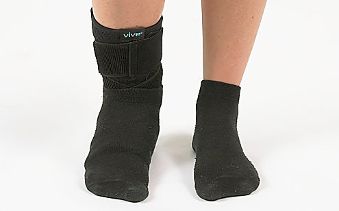 Ankle brace support covered with socks
