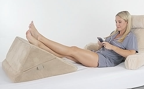 elevating legs with bed wedge