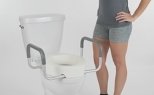 toilet seat installed on toilet