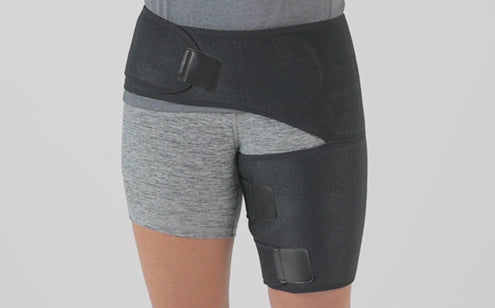 Wearing groin support in the right leg