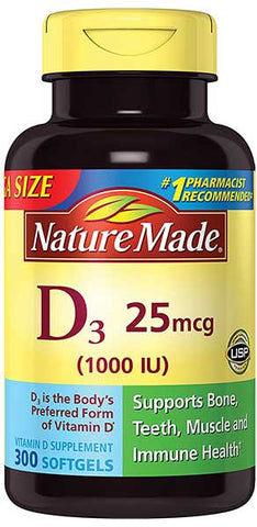 Vitamin D3 1,000 IU Softgels by Nature Made