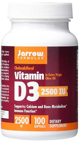 Vitamin D3 Softgels for Calcium and Bone Metabolism by Jarrow