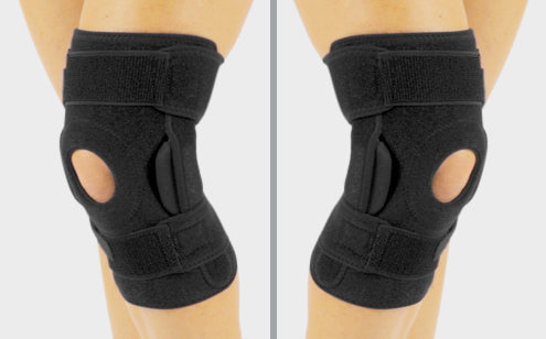 Hinged knee brace can be wear either left or right knee