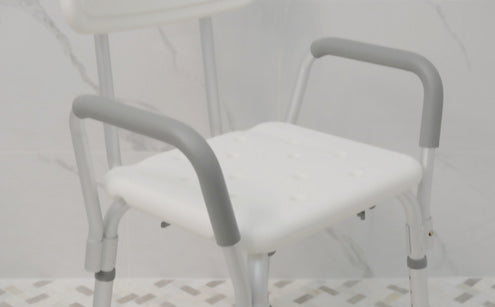 Shower chair seat texture