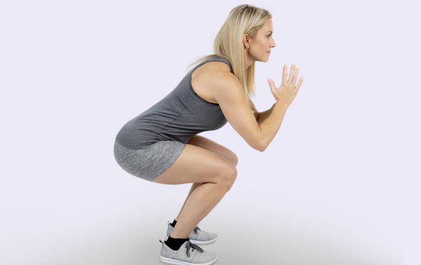 Woman exercising for her lower back pain