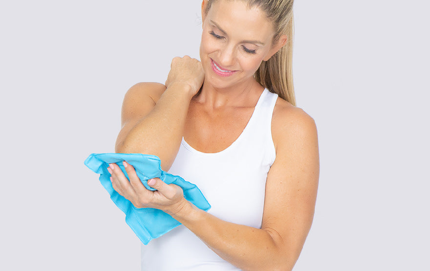 Woman using Ice Pack