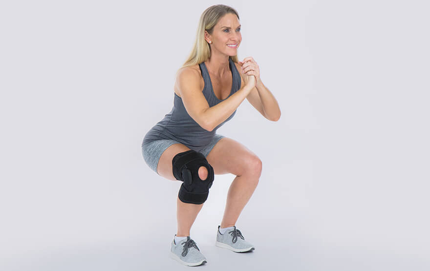 Woman knee exercise