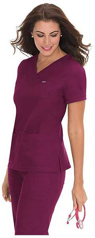 Women's Nicole Super Comfy Pullover Style Scrub Top With Rib Trim by KOI