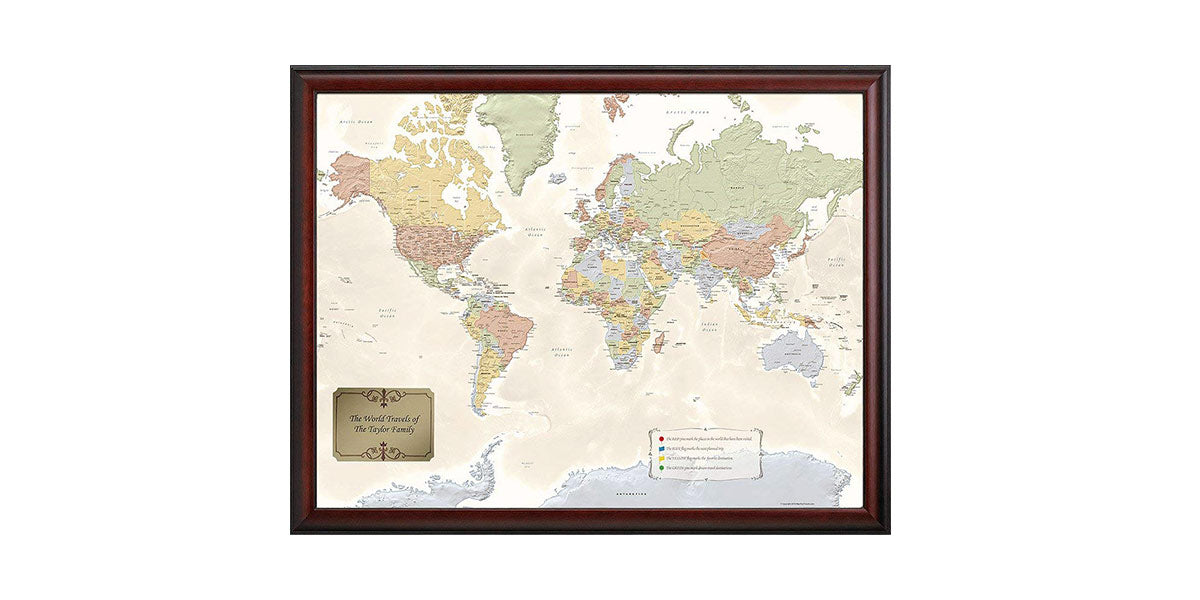 World Traveler Map by Map Your Travels