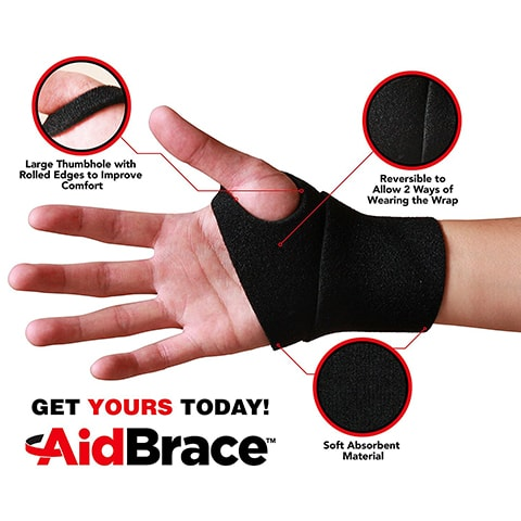 Wrist Support Wraps by AidBrace