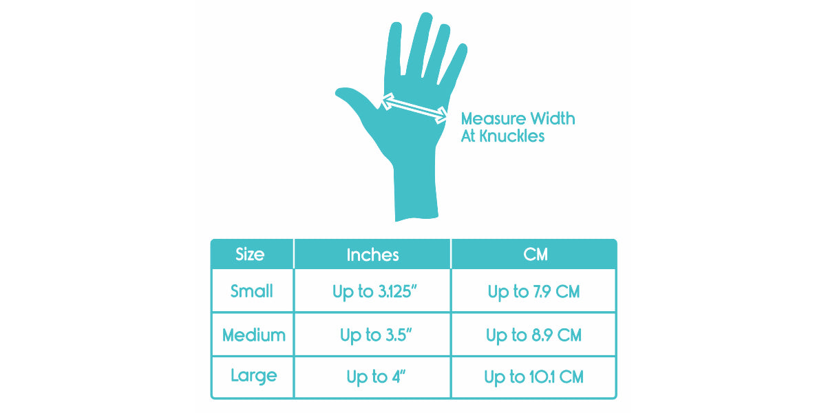 Compression Gloves Sizing Chart