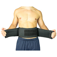 Man wearing lower back brace