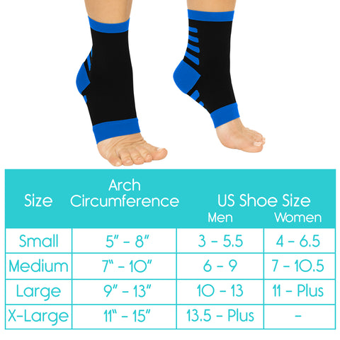 ankle compression sock sizing chart