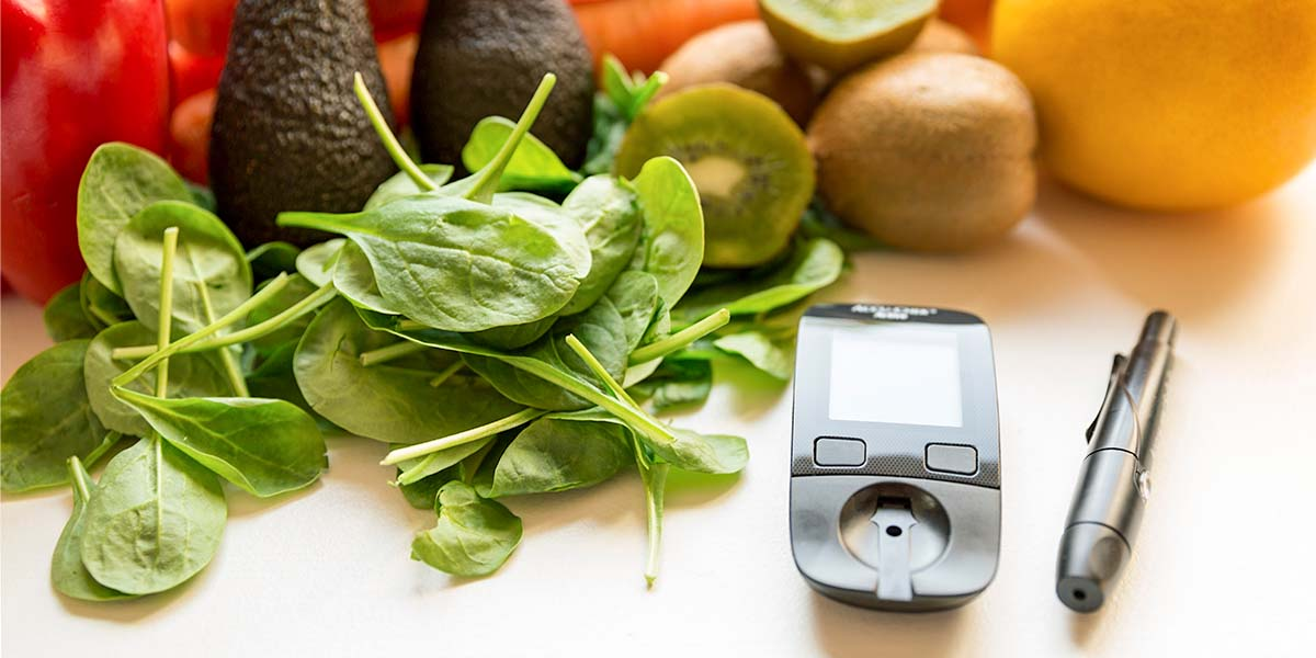 blood sugar monitor and healthy foods