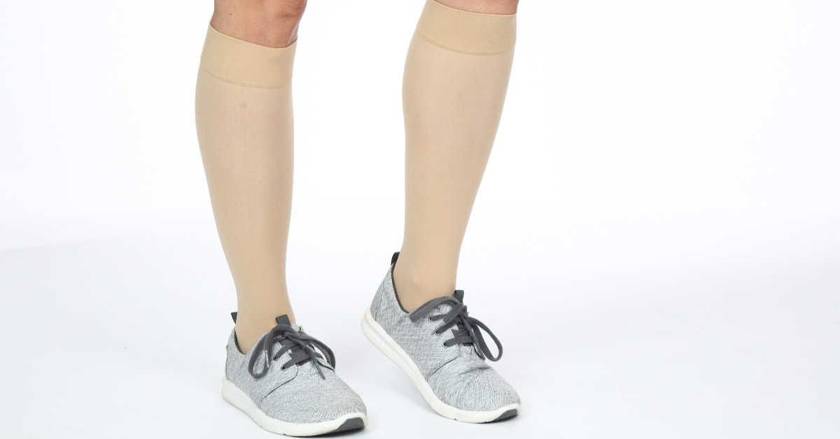 hospital compression socks with sneakers
