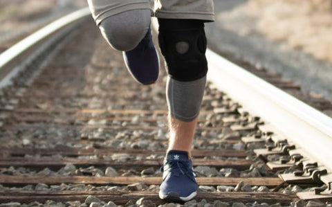 exercising with knee brace