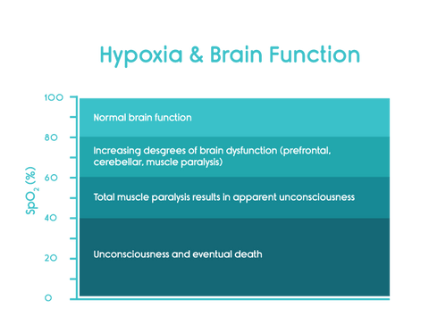 hypoxia and brain function chart