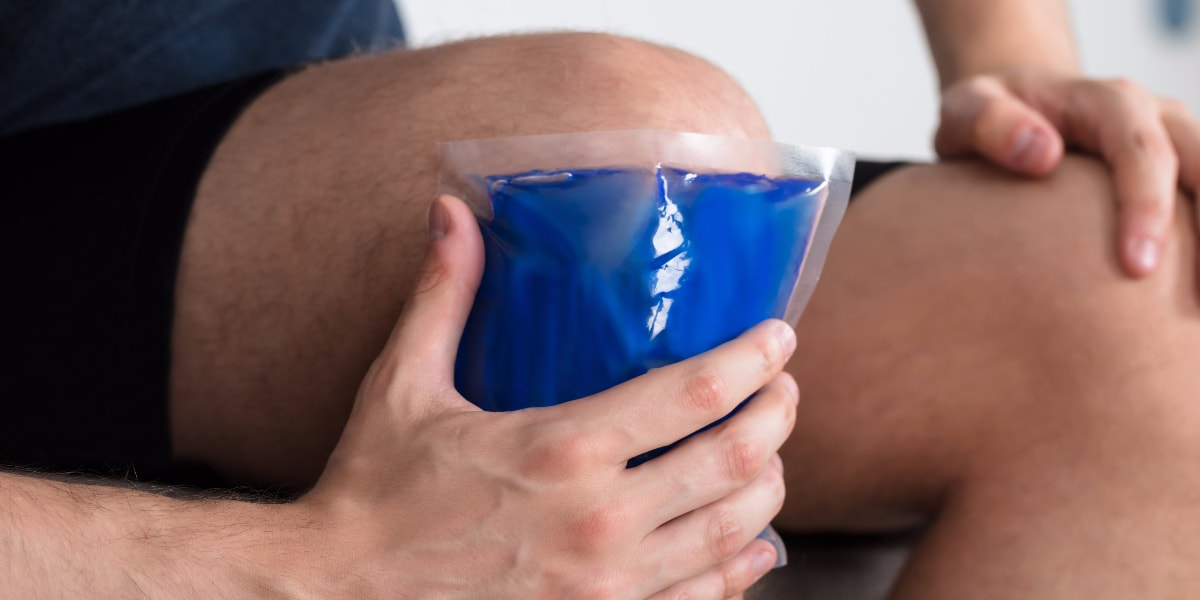 using ice pack on knee pain