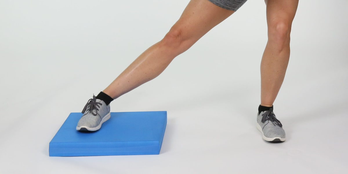 knee exercises with balance pad