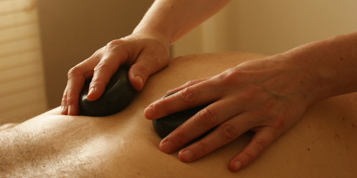 stone back massage