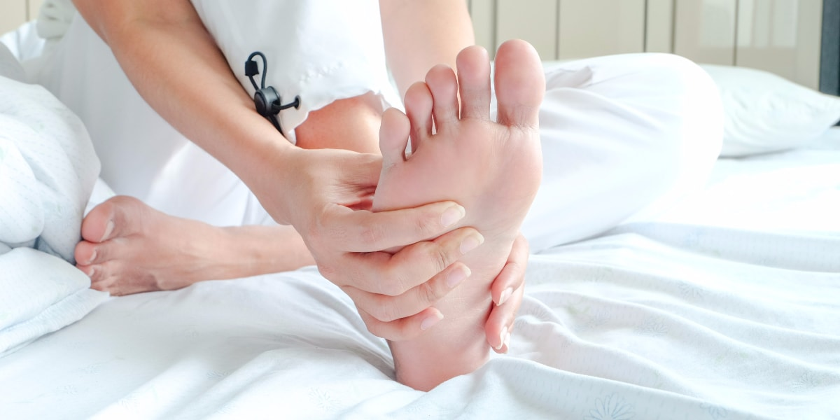massaging arch of foot