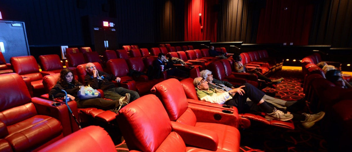 people watching in a theater