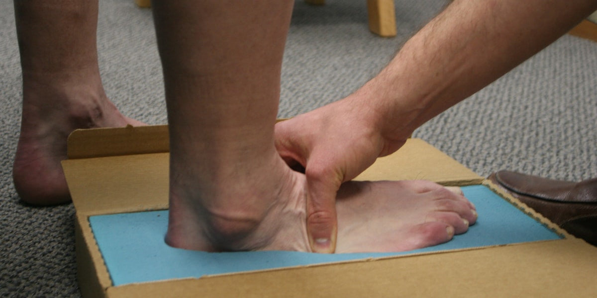 podiatrist making a mold