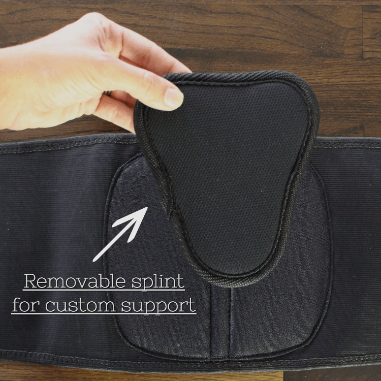 removable splint on back brace