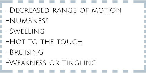 signs you may be experiencing shoulder pain