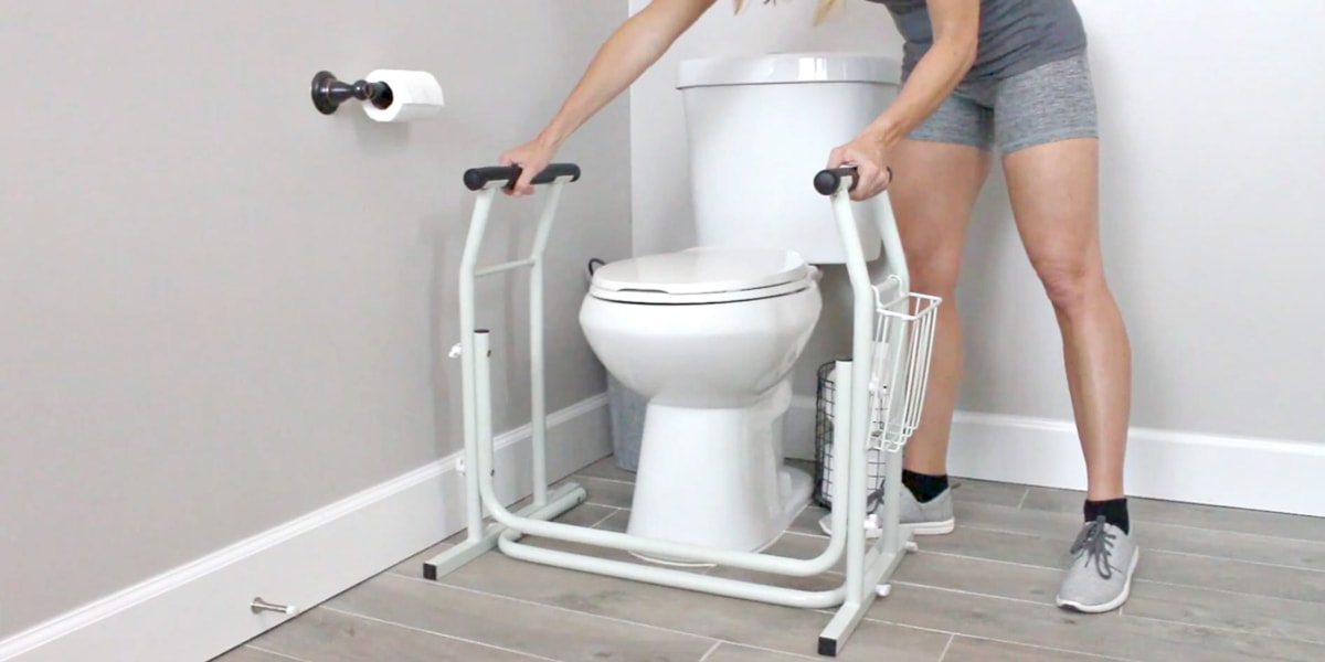 Bon Assembling Stand Alone Toilet Rail. Grab Bars For Toilet Safety ...