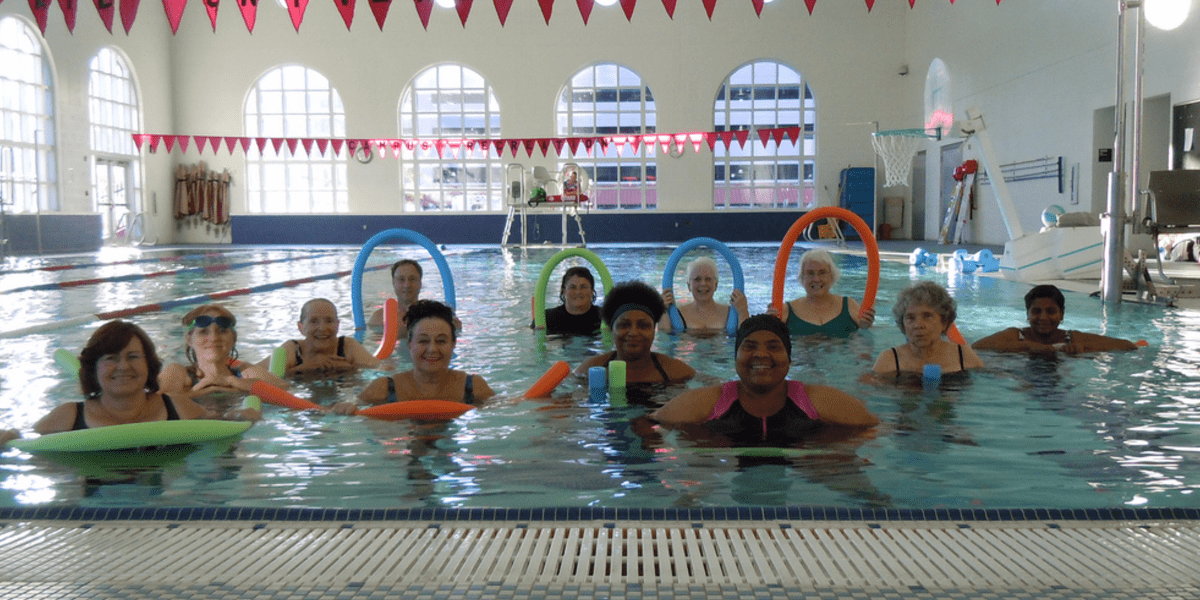 group water aerobics class