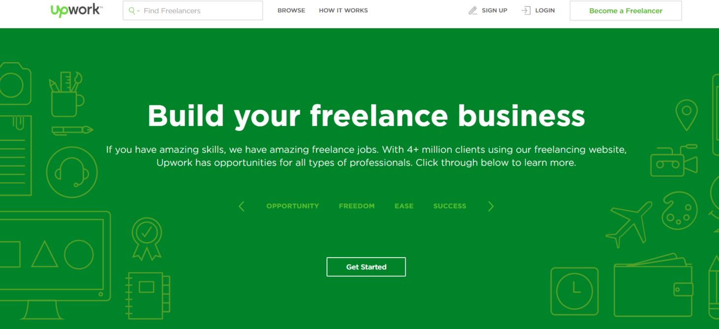 upwork become freelancer page