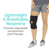 Lightweight breathable neoprene wicks away moisture for all-day comfort