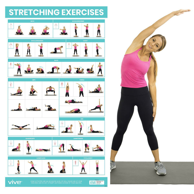 V8935 Stretching Exercise Sport Health WALL PRINT POSTER CA